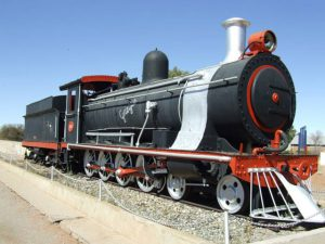 Grietjie - A retired steam lomotive at the Upington railway station