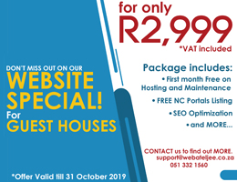 Website Special for Guest Houses | Upington Accommodation, Business & Tourism Portal