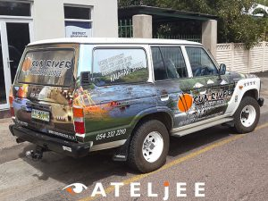 Upington Vehicle Wrap | Web Ateljee | Web Design, Clothing, Engraving & Signs